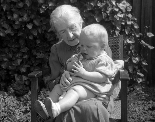 Alice with her great grandson, John, in 1943